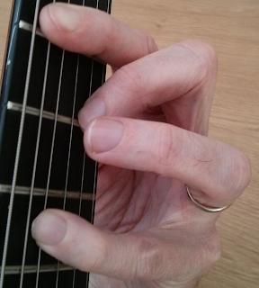 Amaj9 guitar chord