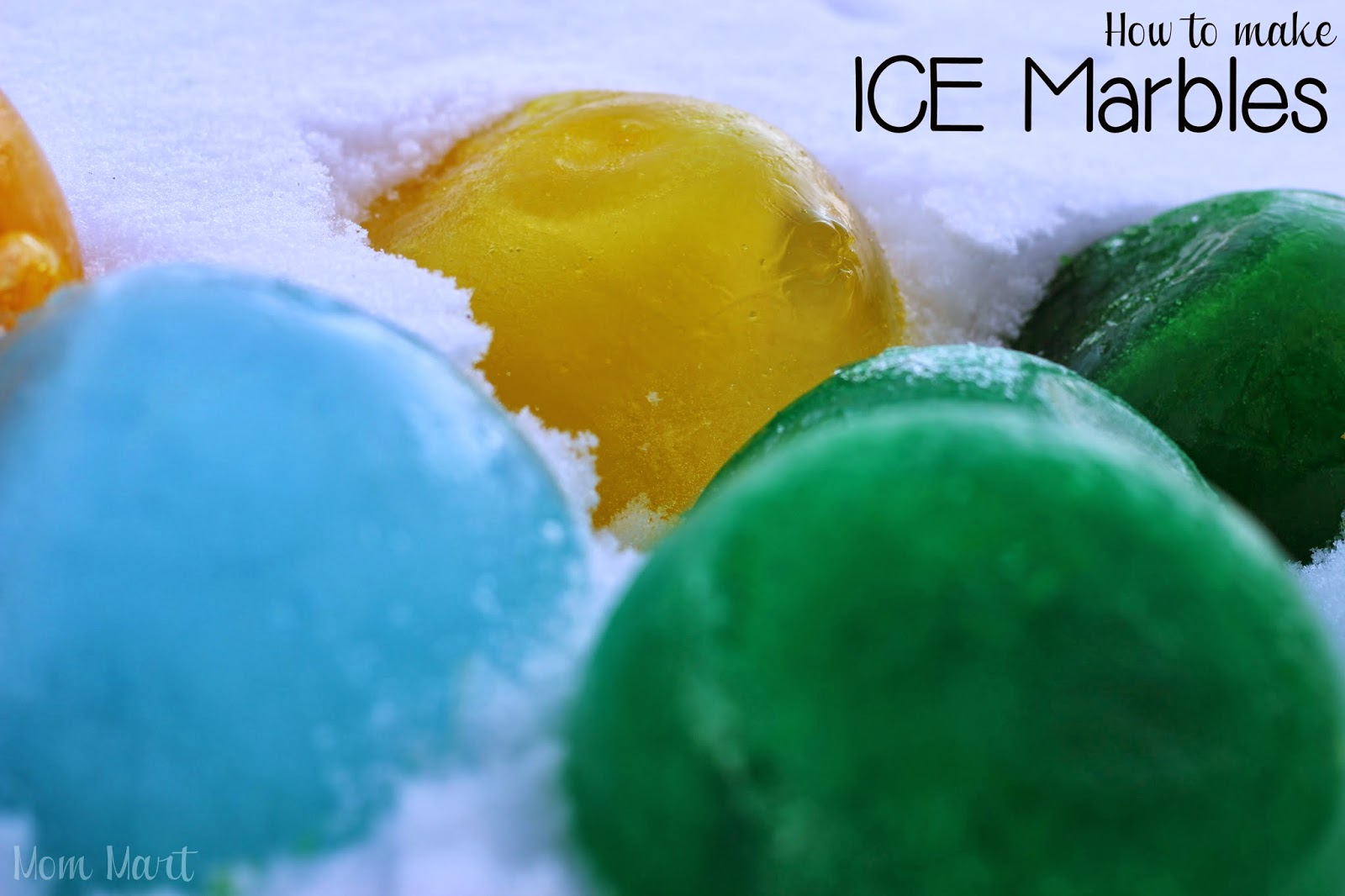 How to make ICE Marbles: A hands on Activity for children #CraftsForKids #KidCraft #Activity tutorial with game and science experiment.