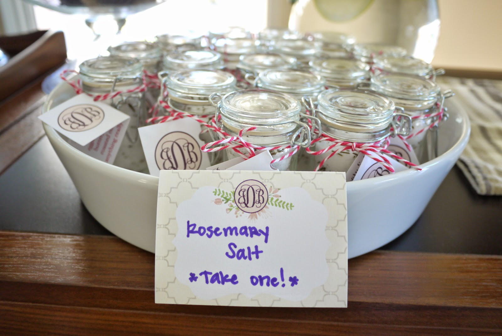 Gilded Girly Bridal Shower Rosemary Salt Favors