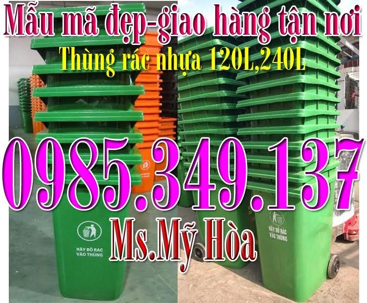 Bán rẻ thùng rác 120L, 240L