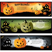 10. Free Vector Happy Halloween Web Banner Set