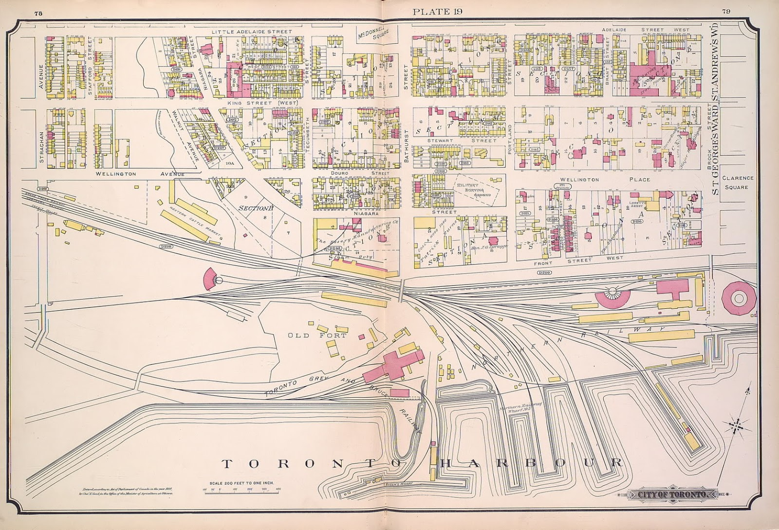 Plate 19, 1884 Goad Atlas of Toronto