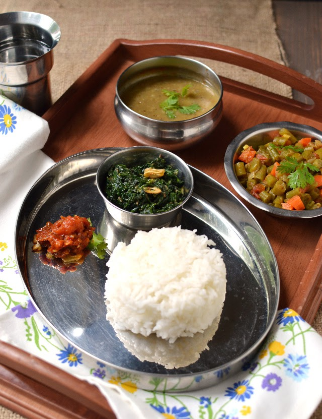 Nepal -- Simple Vegetarian Thali (Recipes)