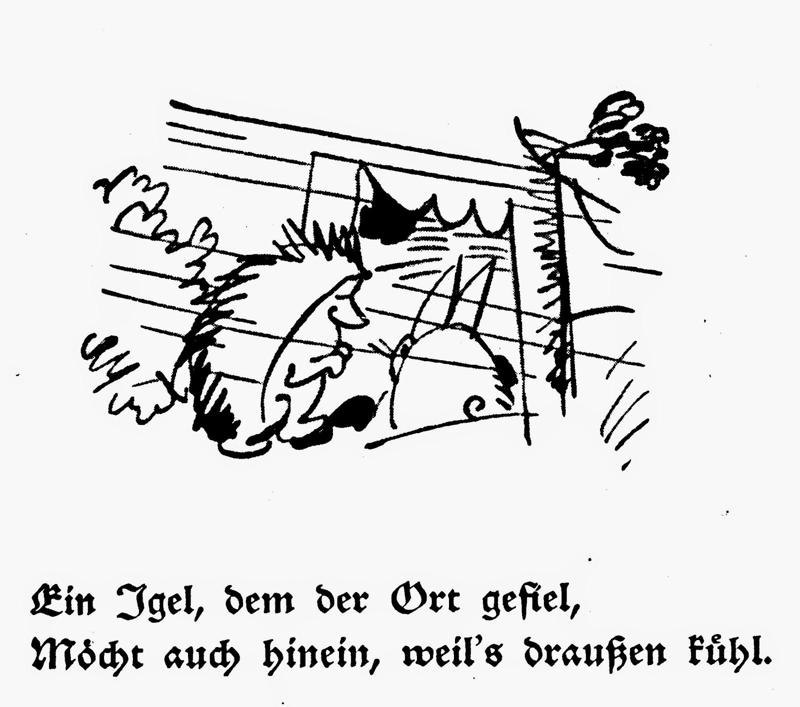 Fraktur Lernen Mit Wilhelm Busch Neu Der Unverschamte Igel