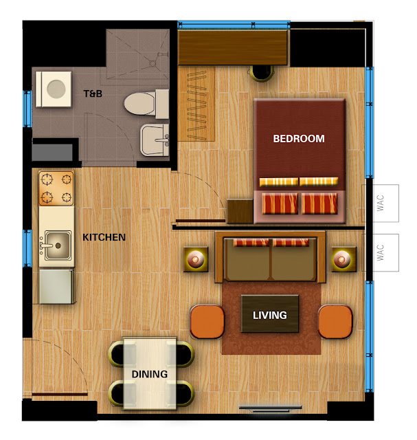 Avida Towers Davao 1-Bedroom Unit