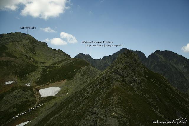 Widok na Wyżnią Koprową Przełęcz