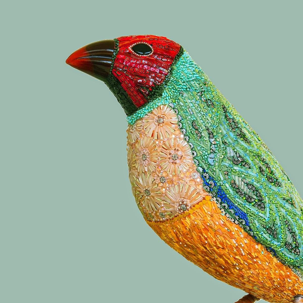 Simply Creative: Beautiful Mosaic Bird Sculptures by Dusciana Bravura
