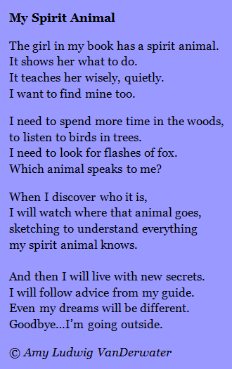 the poem farm my spirit animal inspiration from others