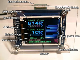 monitoramento de rede com AVR e Bluetooth