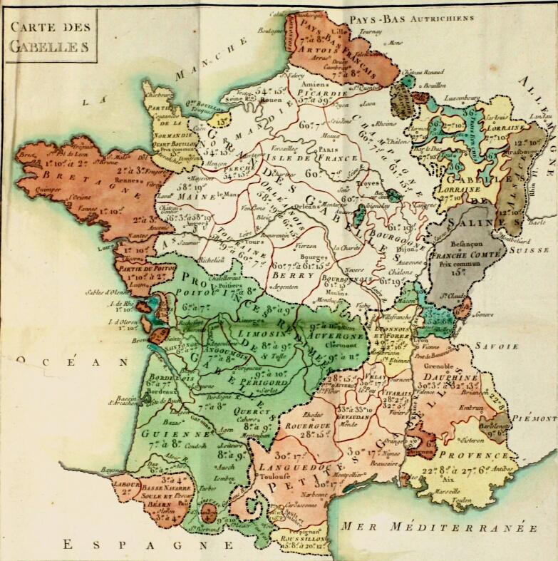 Carte de france xviiie si cle for Architecture 18e siecle france