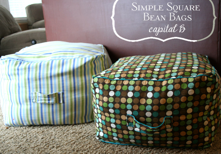 Capital B Simple Square Bean Bags New How To Make A Square Pouf
