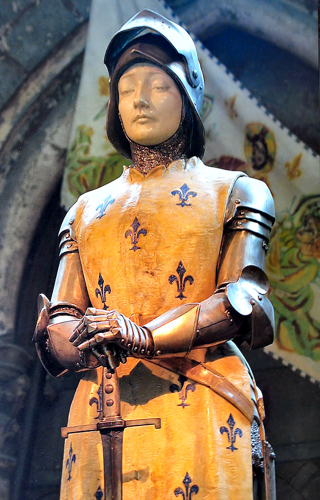 Santa Joana d'Arc, imagem na catedral de Reims