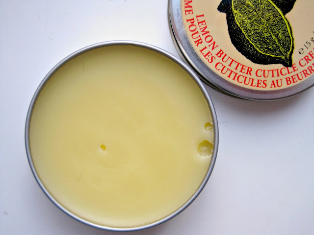 Burt's Bees Lemon Butter Cuticle Creme review ingredients swatch
