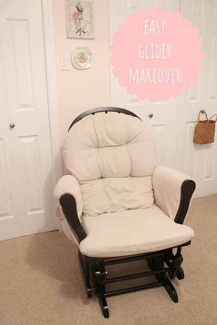 easy glider makeover  www.somuchbetterwithage.com