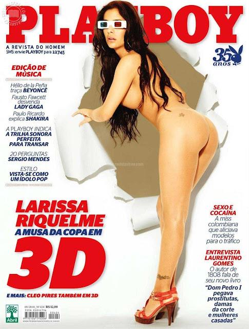Confira as fotos da musa da Copa do Mundo da Africa do Sul, Larissa Riquelme, capa da Playboy de setembro de 2010!