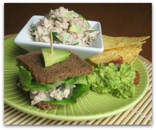 fiesta mexican tuna salad with avocado