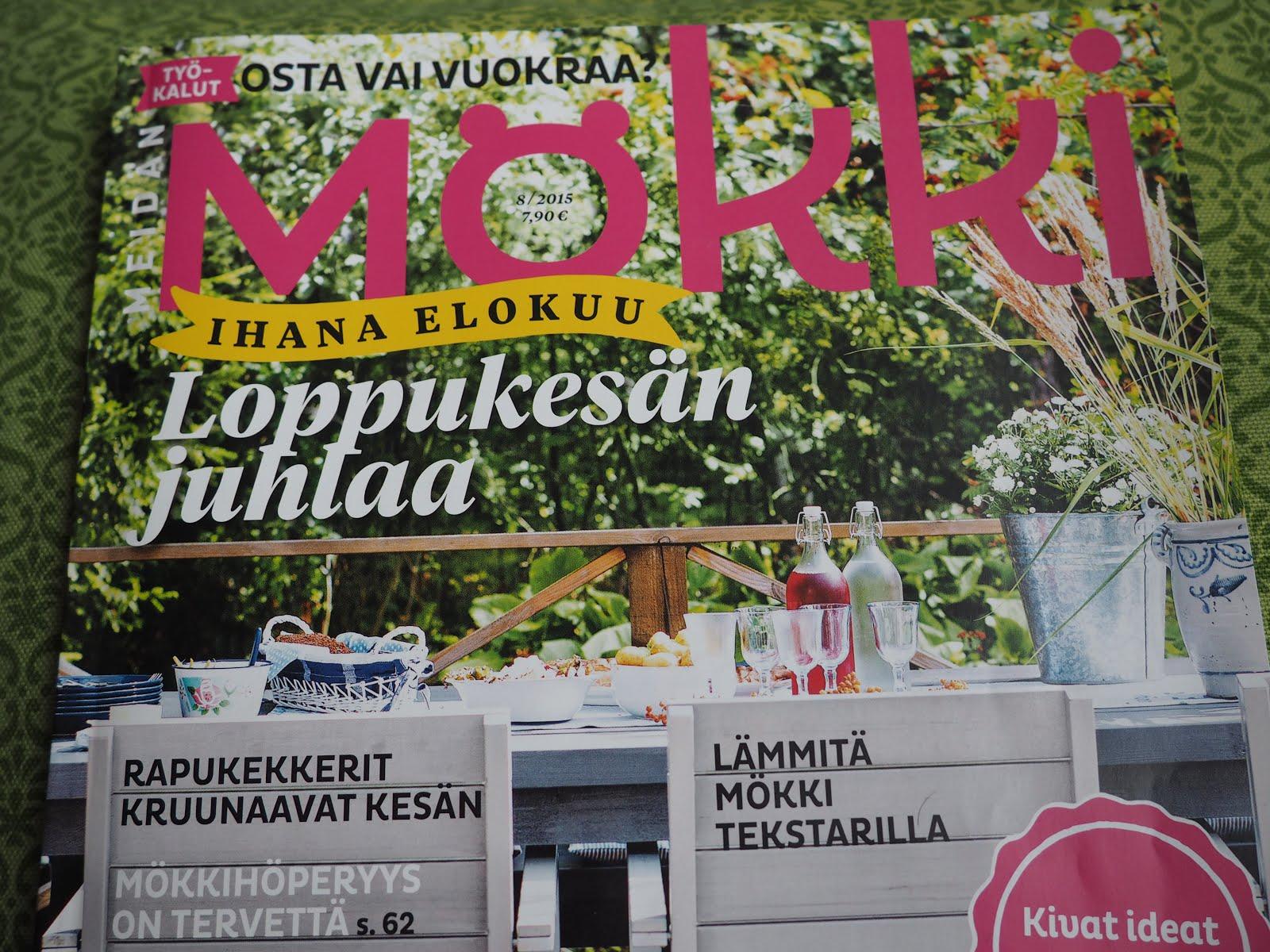 MÖKKIMME Meidän Mökki-lehdessä 2015