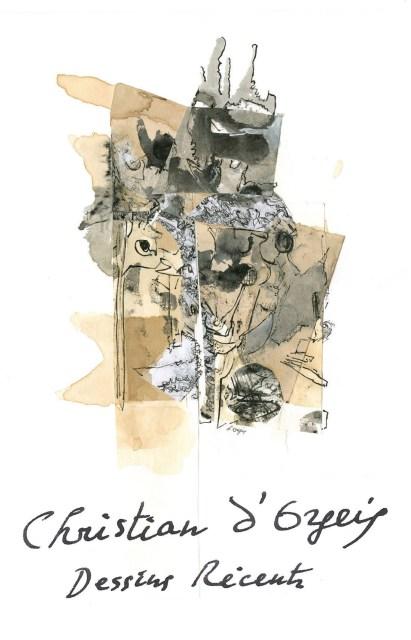 COFFRET de 40 DESSINS INÉDITS de Christian d'ORGEIX, DESSIN couverture du coffret