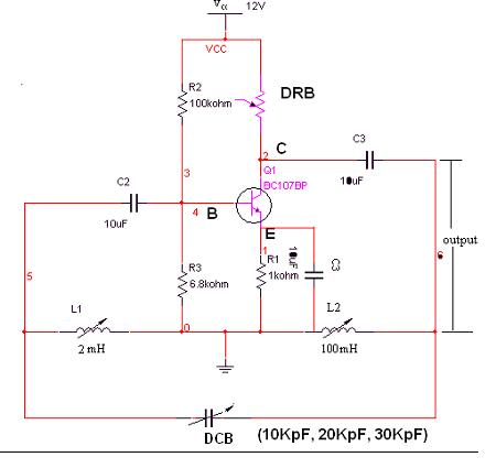 Hartley Oscillator Circuit Diagram Using Transistor | Hartley Oscillator Electronic Devices And Circuits Lab Manual