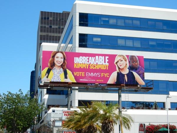 Unbreakable Kimmy Schmidt Emmy 2015 billboard