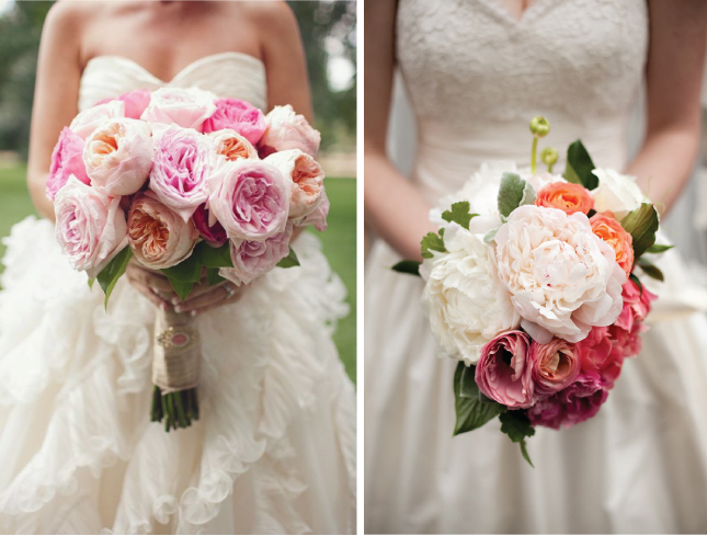 Really Obsessed With These White Peony Bouquets With Accents Of