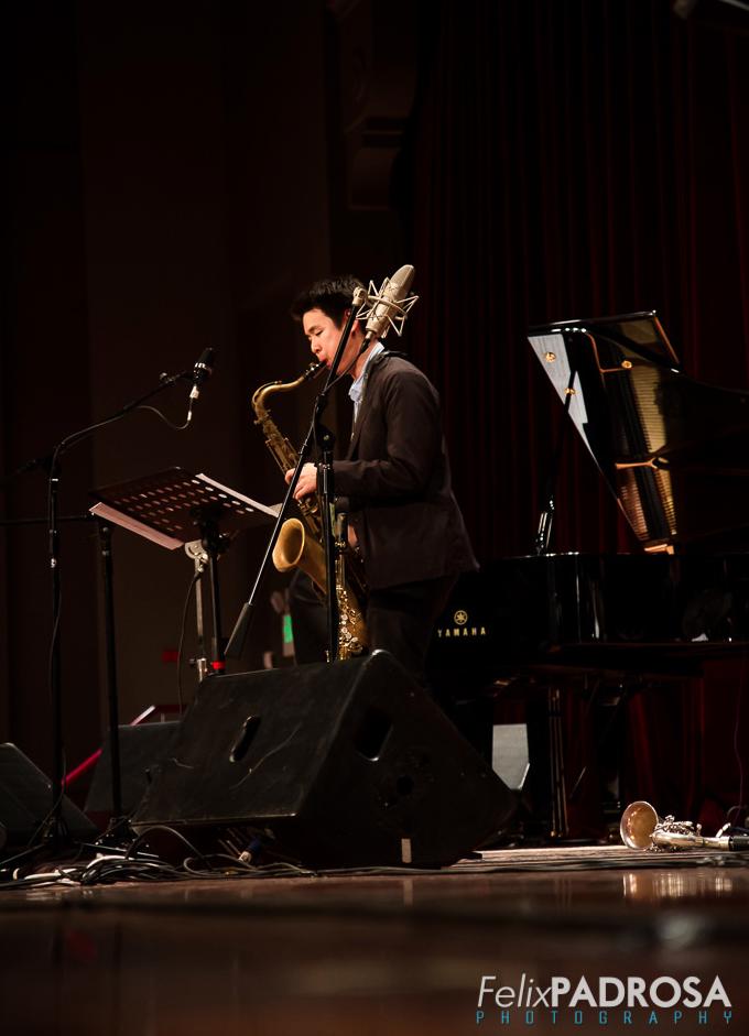 Kevin Sun on tenor saxophone, Panama Jazz Festival 2015