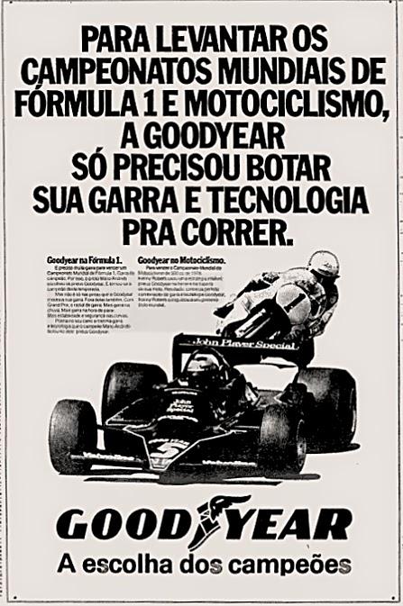 Good Year. reclame de carros anos 70. brazilian advertising cars in the 70. os anos 70. história da década de 70; Brazil in the 70s; propaganda carros anos 70; Oswaldo Hernandez;