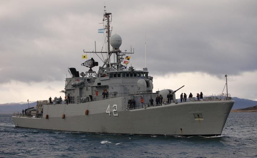 La Armada Argentina en el Golfo Persico ARA+Rosales