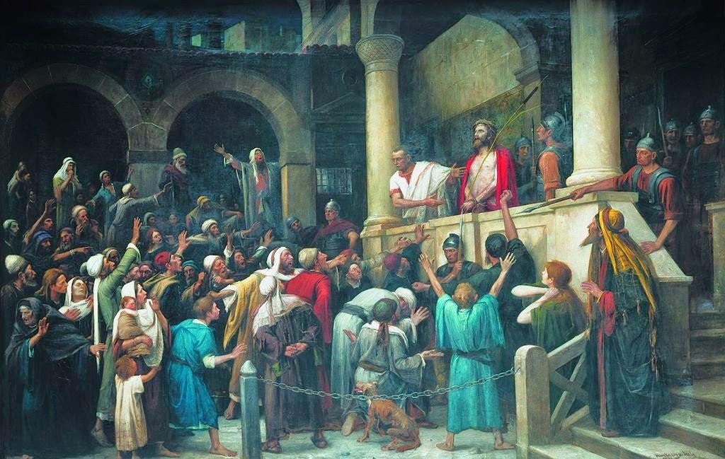 feltámadás, Húsvét, ünnep, kereszténység, Munkácsy Mihály, Ecce Homo