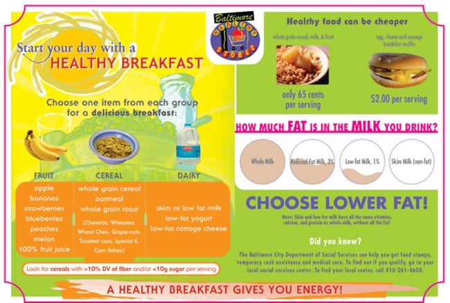 ... healthy breakfast, with milk, bread, oil, cereals, juice, chocolate