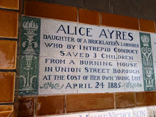 Memorial to Heroic Self Sacrifice, Postman's Park, London, Closer, Closer film, Alice Ayres, George Watt's