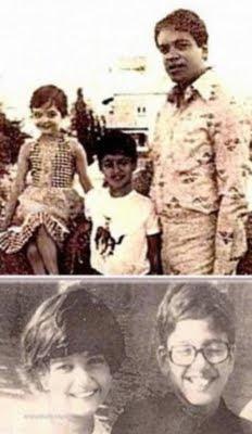 childhood photos of aishwarya rai on vacation with father