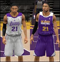 NBA 2K13 Los Angeles Lakers Practice Jersey Patch