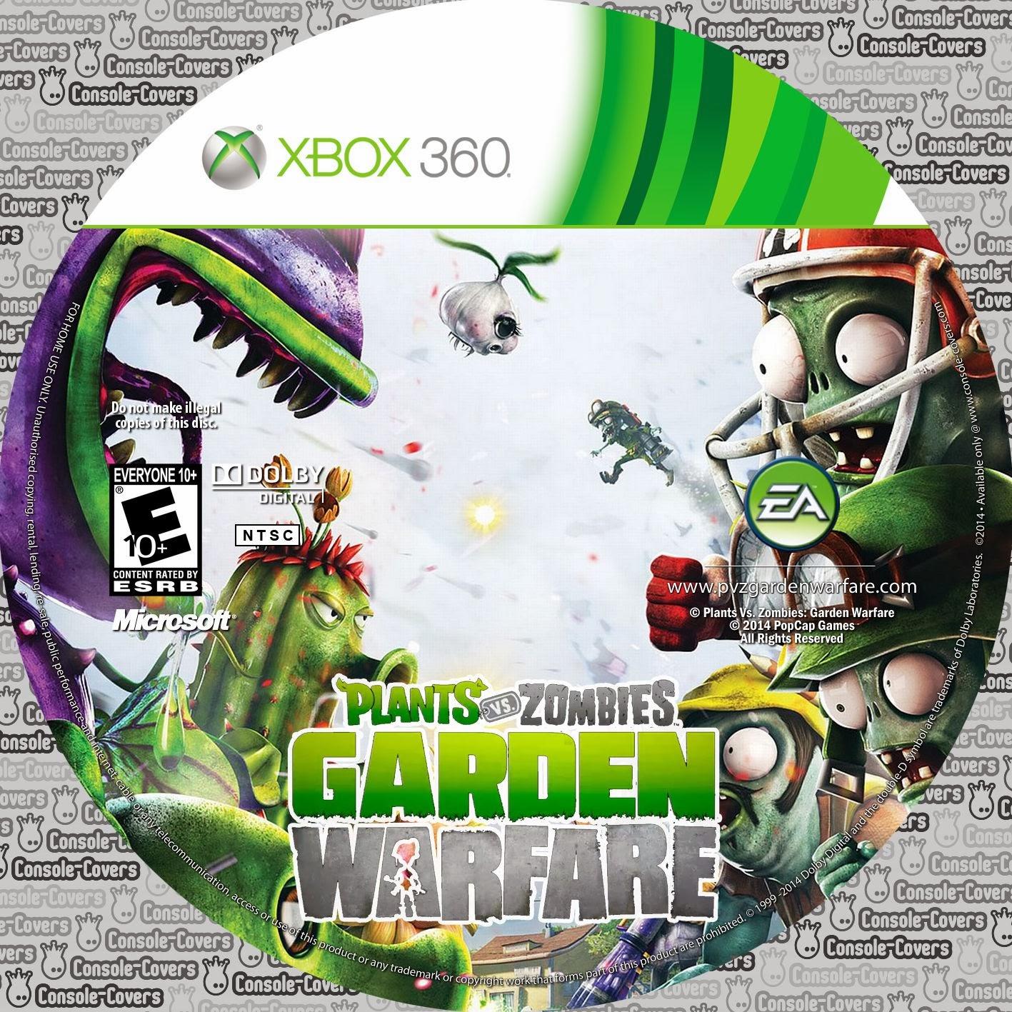 Label Plants Vs Zombies Garden Warfare Xbox 360