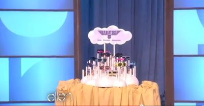 Babiator's Product Display designed and fabricated by Szal Design is featured on The Ellen Degeneres Show's Mother's Day 2012 special