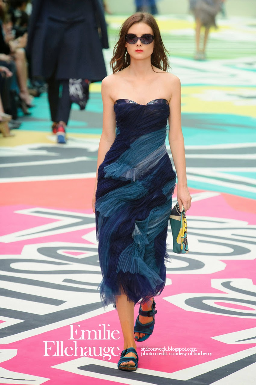 Emilie Ellehauge at Burberry Prorsum Womenswear Spring-Summer 2015 Collection Look