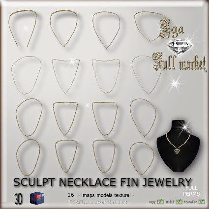 SCULPT NECKLACE FIN JEWELRY