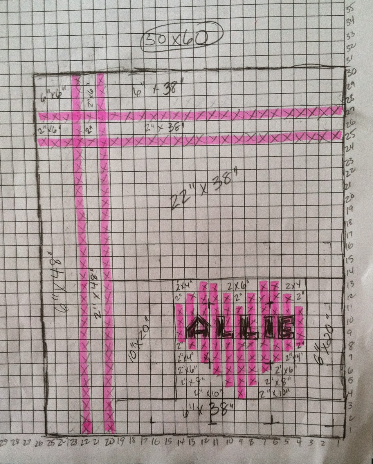 Heart Quilt - 2.5 inch squares - signature quilt