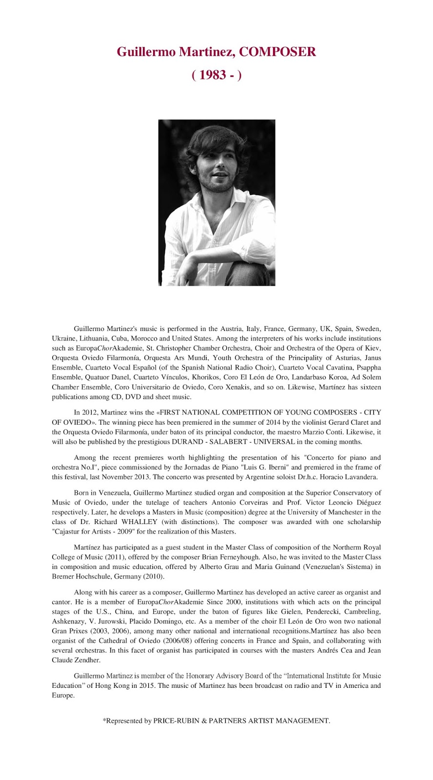 guillermo martínez compositor composer cv english cv english