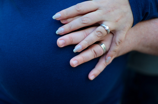 Wedding Ring Selfie Pregnant Belly