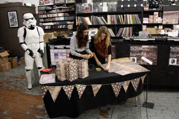 Ella Doran at Christmas market Rough Trade