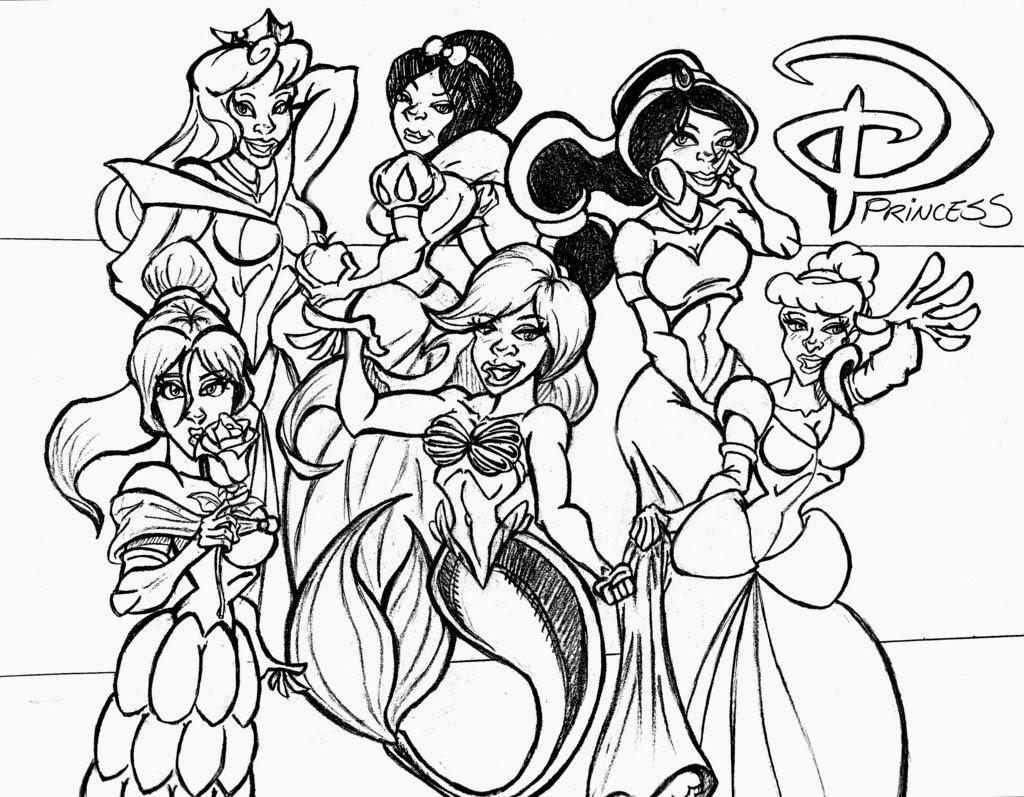 Disney Prinzessinnen Ausmalbilder Kostenlos : Erfreut Alle Disney Prinzessinnen Malvorlagen Zeitgen Ssisch Entry