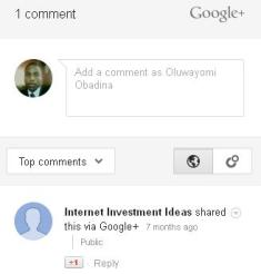 How to add Google+ comment widget