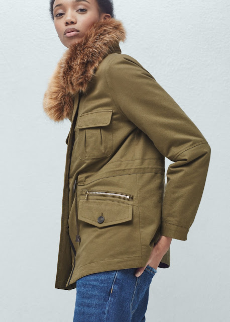 khaki coat extra fluffy hood, big fur hood coat,