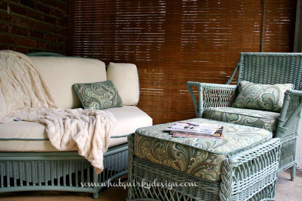 A Beautiful Wicker Chair Makeover