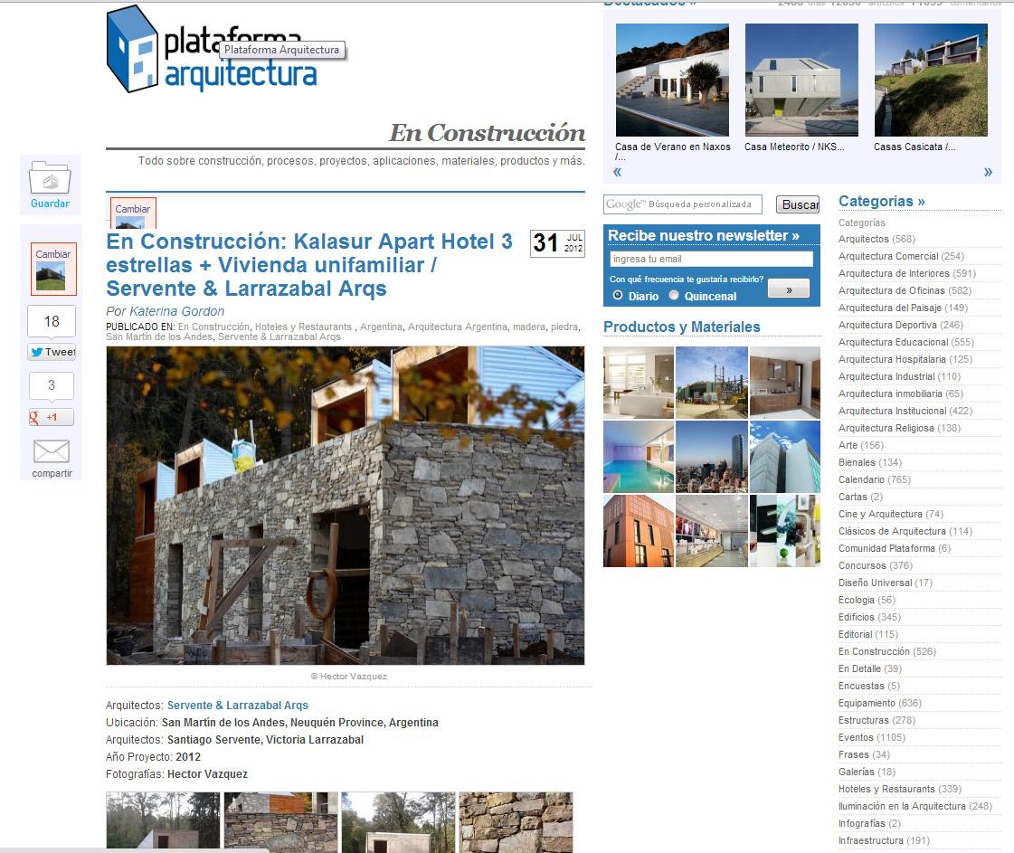 Arquitectos patagonia arquitectura san mart n de los for Articulos sobre arquitectura