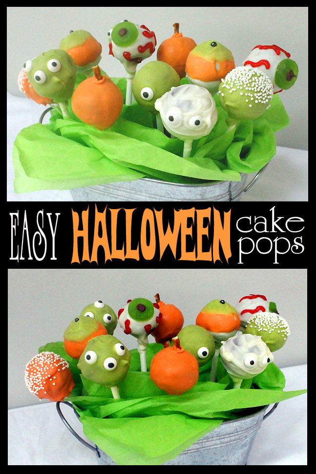 Easy halloween cake pops pinterest fail included Cute easy halloween cakes