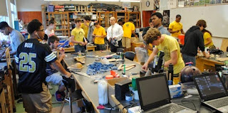 High School Students engaged in Project Based Learning