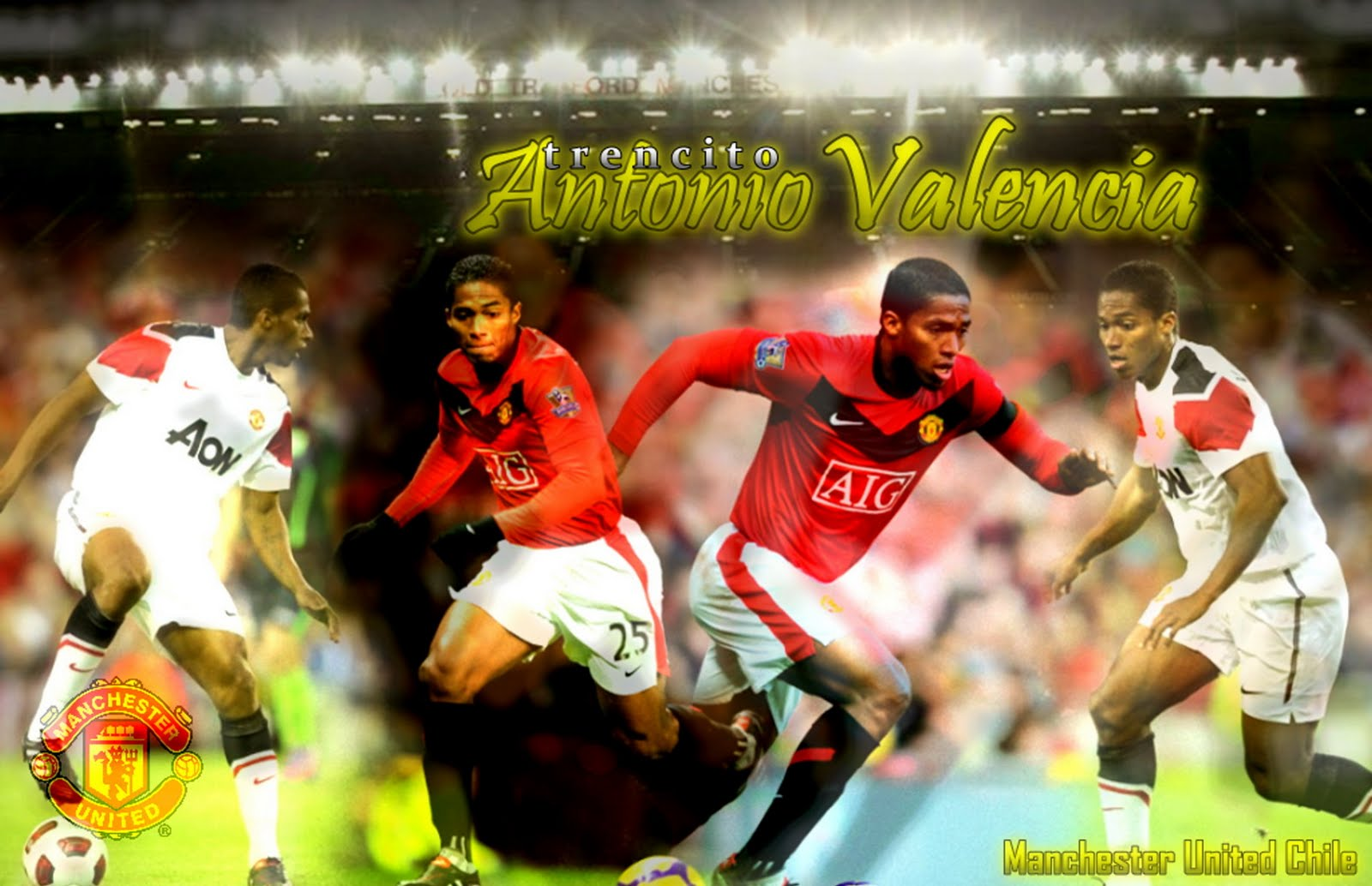 antonio valencia wallpaper, manchester ubordernited winger, eccuador footballer, wigan