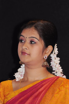 Tamil TV Actress Monika in Cute Saree Photos